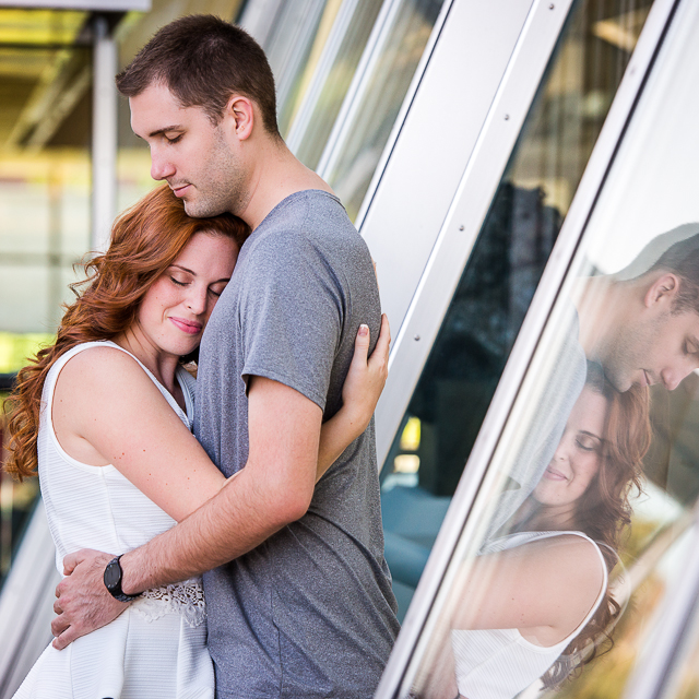 Melissa & Shaun // Engagement Session in Downtown Akron