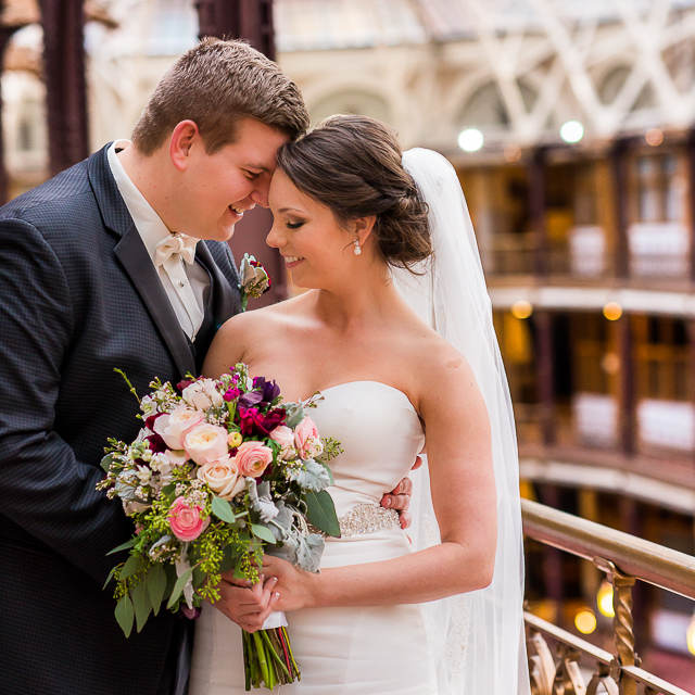 Lindsey & David // Wedding at The Arcade in Cleveland