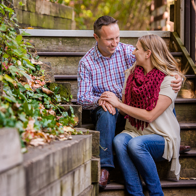 Megan & Nate // Engagement Session in Downtown Kent
