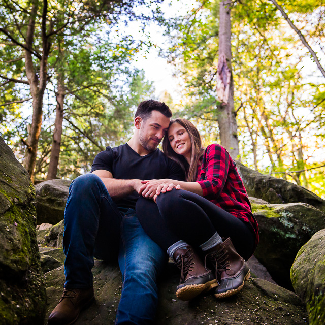 Stephanie & Nick // Engagement Session at The Ledges