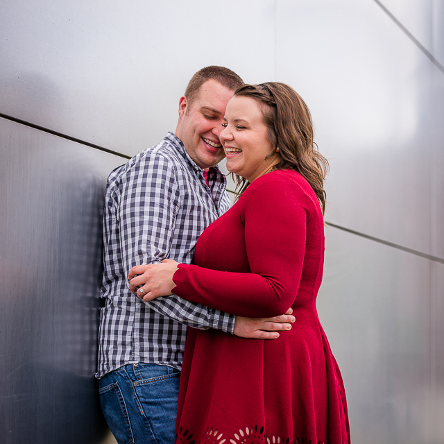 Stacey & Geoff // Engagement in Downtown Akron